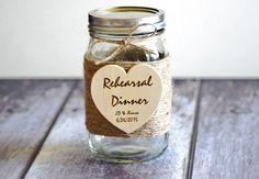 Alternative Guest Book Mason Jar Bridal por CustomWoodWonders