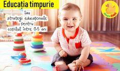 Educatia timpurie cuprinde un set de strategii educationale concepute special pentru copiii cu varste de pana in 5 ani. Si incepe inca din primele luni de viata ale bebelusului. Parenting, Face, Sports, Hs Sports, The Face, Faces, Sport, Childcare, Facial