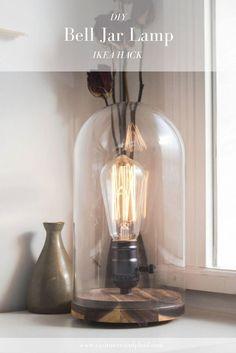 DIY Modern Bell Jar Lantern