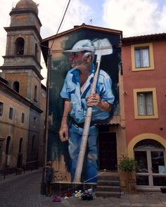 Acquapendente, Italy: new piece by Spanish artist Manolo Mesa.