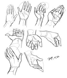 Hand reference 손 Drawing Practice, Drawing Skills, Drawing Poses, Drawing Techniques, Drawing Tips, Figure Drawing, Drawing Sketches, Drawing Hands, Drawings Of Hands