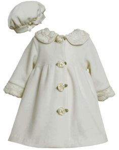 Ivory Bonaz Rosette Collar Fleece Coat / Hat Set IV2TW,Bonnie Jean Todders Special Occasion Outerwear Coat Bonnie Jean,http://www.amazon.com/dp/B00EE1S6VG/ref=cm_sw_r_pi_dp_g9hbsb0P7J6H3AF6