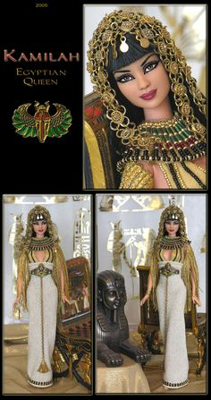 egyptian queen kamilah barbie repaint