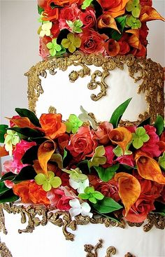 Portfolio « Maggie Austin Cake - This is a REAL cake with amazing floral detail! Stunning! <3