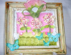Mother's Day Shabby Chic 3D Collage by YoungHeartWhimsy on Etsy, $27.50    Made by my awesome friend Jacqueline.