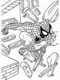 spiderman coloring pages for preschool kindergarten and elementary school children to print and color - Spiderman Coloring Pages Print