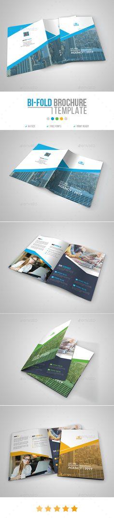 Corporate BiFold Brochure Template 14 #multipurpose #template brochure  • Download here → https://graphicriver.net/item/corporate-bifold-brochure-template-14/21203726?ref=pxcr