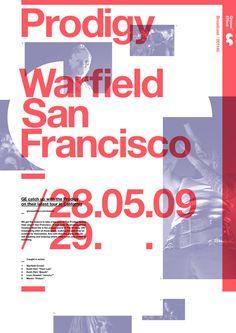 Poster: Duotone. Prodigy, Warfield San Fransisco.