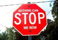 10 Stop Signs with lyrics as graffiti