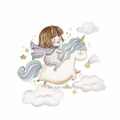 If being a person is getting too complicated... maybe it's time to be a unicorn!  | Custom Birthday Illustration for our lovely Arissa. | #art_we_inspire#arts_help#worldofartists#watercolor#winsorandnewton#watercolour#illustration#waterblog#watercolorillustration#bigbearandbird#instagram#art_spotlight#watercolour_gallery#childrenswritersguild#childrensbookillustration#picturebook#unicorn