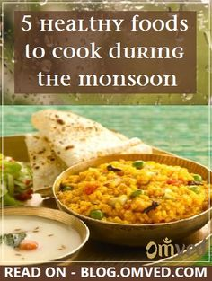 Here are 5 recipes that are sure to boost your immunity and keep you healthy during the wet season.These easy to make #recipes are not just nutritious but good for your #health too! #cooking #ayurveda #healthyliving