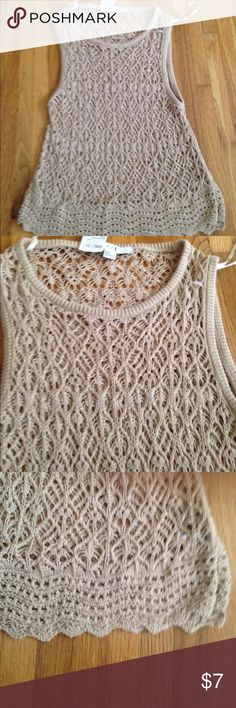 Forever 21 Tan Sleeveless Sweater Sz. M Brand New W/ Tags Forever 21 Tan Sleeveless Sweater/ Very Flattering/ Nice Fit Forever 21 Tops Tank Tops