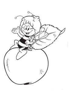 Maya The Bee Is On The Big Apple Coloring Page