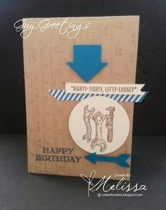 Stampin' Up! Guy Greetings by Melissa Davies @rubberfunatics @stampinup #rubberfunatics #stampinup