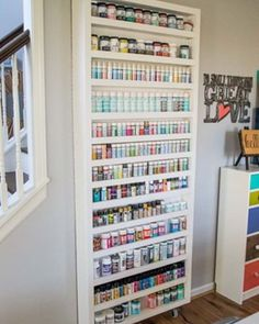By far my favorite feature of my #iccraftstudio is my paint storage door. Come to the blog today to see what's behind the door!