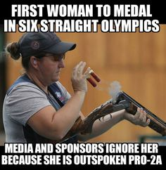 DTAPNtlSecurity (@DTAP4NSecurity) | Twitter  Kim Rhode, won those SIX medals with a gun, doesn't wear a Hijab & is an outspoken supporter of #2A  #AmericaFirst #AmericaFirstCoalition