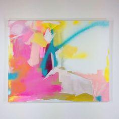 """Finished! #jennyprinn #art #artist #abstractart #originalart #contemporaryart #modernart #buyart #pink #pinkart #bright #interiors #interiordesign #decor #artforyourwalls"" Photo taken by @jennyprinn on Instagram, pinned via the InstaPin iOS App! http://www.instapinapp.com (02/25/2015)"