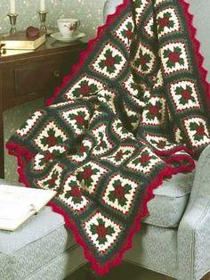 DIY 2015 Christmas Crochet Blanket Afghan Pattern - Sofa Decor, Christmas Decor, Room Decor