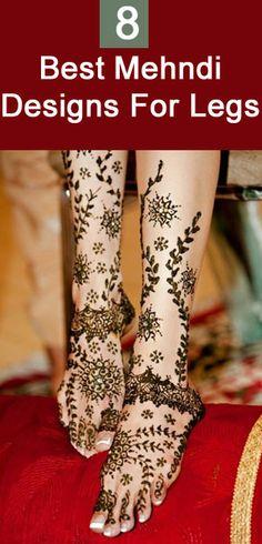 Best Leg Mehndi Designs