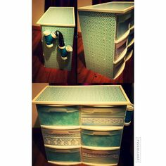 DIY Plastic Bin Redo - Walmart Storage Ideas - Ideas of Walmart Storage Ideas - Redo Plastic Bin with pegboard I had two white plastic storage bins from Walmart that I didn't know what to do with. I did know that I needed a place for al Rolling Storage Bins, Plastic Storage Shelves, Plastic Storage Drawers, Diy Drawers, Diy Storage, Storage Ideas, Storage Solutions, Smart Storage, Food Storage