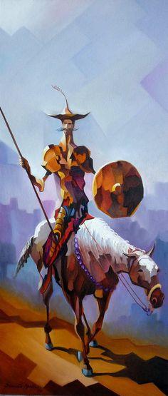 ☆ Don Quixote com Escudo :¦: Artist Damião Martins ☆