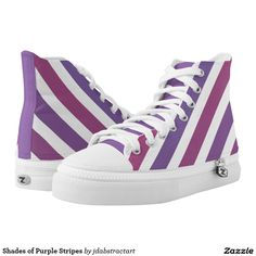 Shades of Purple Stripes Printed Shoes