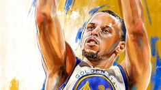 Stephen Curry 'NBA Playoffs' Painting
