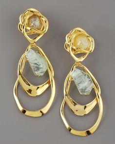 18 karat orbiting earrings, Alexis Bittar