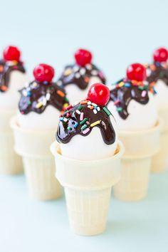 DIY Ice cream cone Easter eggs.