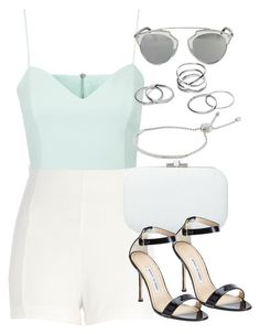 """""""Style #9028"""" by vany-alvarado ❤ liked on Polyvore featuring River Island, Topshop, Judith Leiber, Manolo Blahnik, Christian Dior and Michael Kors"""