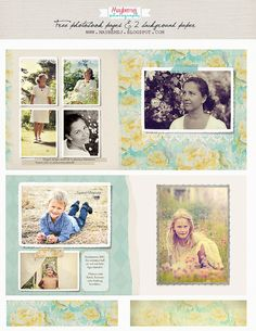 Maybemej old photobook page- freebie by maybe*mej, via Flickr