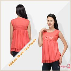 Don a cool look by wearing this trendy top, its fabric is too comfortable to wear all throughout the day.