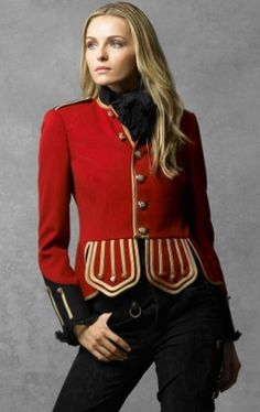 Ralph Lauren collection red military jacket