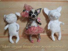 Собачки из ваты с ватой раньше немного работала, в основном делала птичек (http://stranamasterov.ru/node/997851#photo62