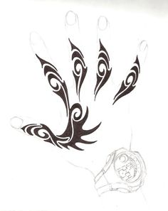 henna hand design by Kielrae on DeviantArt - Henna Hand Designs, Henna Tattoo Designs, Designs Mehndi, Tribal Hand Tattoos, Body Art Tattoos, Paisley Tattoos, Tribal Drawings, Tattoo Drawings, Viking Tattoos
