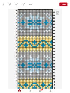 This Pin was discovered by Юли Tapestry Crochet Patterns, Fair Isle Knitting Patterns, Fair Isle Pattern, Knitting Charts, Loom Patterns, Knitting Designs, Knitting Stitches, Knitting Projects, Cross Stitch Patterns