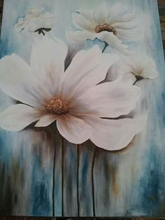 The whims of Nana Acrylic Painting Flowers, Abstract Flowers, Watercolor Flowers, Watercolor Paintings, Acrylic Painting Inspiration, Scenery Paintings, Beautiful Paintings, Flower Art, Canvas Art