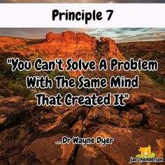 """YOU CAN'T SOLVE A PROBLEM WITH THE SAME MIND THAT CREATED IT""   Principle 7 from Dr Wayne Dyer   Time for a coffee and a short video...   Visit MY COMMUNITY To View THE video  ... Click to Join Us For Social Network Marketing Strategies ... #jacshenderson #socialnetworkmarketing #networkmarketing"