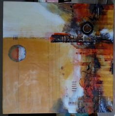 Abstract Encaustic Painting