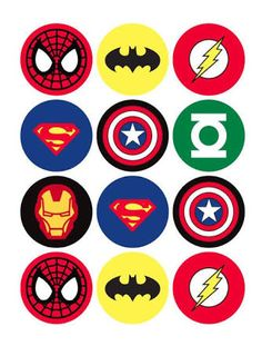 The Avengers Superhero Cupcake Toppers - Batman Printables - Ideas of Batman Printables - 12 rounds per sheet. Ships to US territory only. School Birthday, 4th Birthday Parties, Boy Birthday, Birthday Cupcakes, Birthday Ideas, Super Hero Birthday, Party Cupcakes, Birthday Images, Super Hero Theme