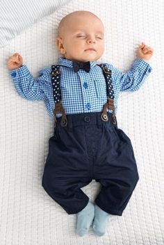 Four Piece Braces And Bow Tie Set (0-18mths) at next mason would look cute in this. Little pageboy outfit.
