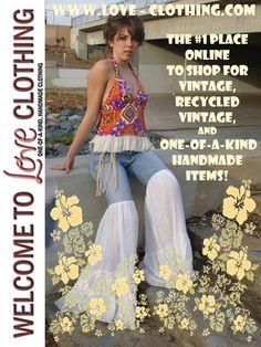 vintage bohemian fashion | Vintage Hippie Bohemian Clothing