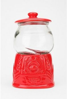 Gumball Cookie Jar...fun kitchen storage (I'm thinking cupcake liners in bright colors).