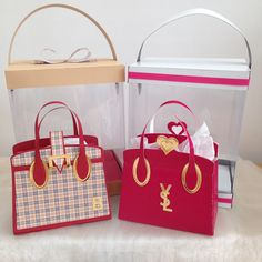 two  bags from Tonic Kensington handbag die