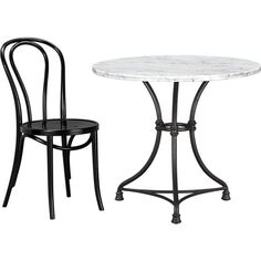 French Kitchen Bistro Table in Dining Tables | Crate and Barrel. Wonder if I can do this for cheap with good flea market table and purchase a stone top.