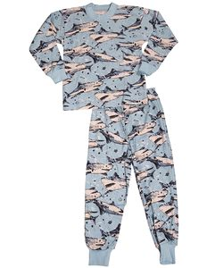 Little Boys Long Sleeve Pajamas - Light Blue Sharks - - Boys' Clothing, Sleepwear & Robes, Pajama Sets # # Toddler Pajamas, Boys Pajamas, Blue Shark, Long Sleeve Pyjamas, Cute Boys, Pajama Set, Little Boys, Boy Outfits, Light Blue