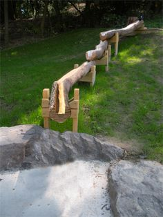 Be inspired by these totally amazing ideas for outdoor play spaces, with dens, nooks, climbing structures, mud kitchens and more for the backyard play area! Outdoor Play Spaces, Outdoor Fun, Playground Design, Playground Ideas, Sensory Garden, Outdoor Classroom, Outdoor Learning, Diy Garden, Water Play
