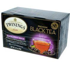 TWININGS OF LONDON: Premium Black Tea Blackcurrant Breeze, 20 Tea Bags, 1.41 Oz