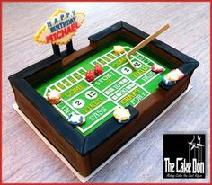 THE CRAPS TABLE CAKE