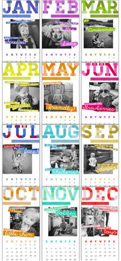 Young House Love - One young family + one old house = love. Calender Template, Diy Calender, Baby Calendar, Family Calendar, 2013 Calendar, Young House Love, Personalised Photo Calendar, Funny Calendars, Homemade Calendar